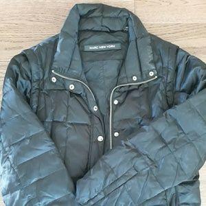 Black convertible Marc New York puffer jacket